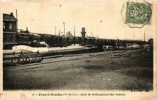 CPA PONT-a-VENDIN Quai de dechargement des bateaux (405713)