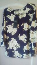 Ladies Marks & Spencer  Collection dressy hip length floral  top size 10 BNWT