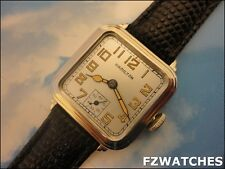 Exquisite Rare Vintage1928 HAMILTON *GREENWICH* Stunning Fancy Case, Silver Dial