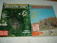 vintage magazines shooting times & country magazine june & oct 986