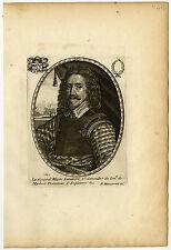 Antique Master Print-EDWARD DERING-GENERAL-CROMWELL-Moncornet-1640