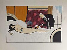 Pochoir de Charles Martin variante d'une illustration du livreLe Singe et Son