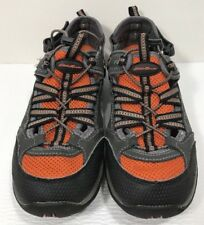 Eddie Bauer Hiking Sandals Waterproof Shoes Orange Gray Men's 7