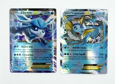 Pokemon EX Proxy Card Set of 2 Holo Fullart Glaceon and Vaporeon NEW