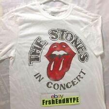 The Rolling Stones In Concert Tongue Logo Tour T-Shirt Men's Size Medium Tee NEW