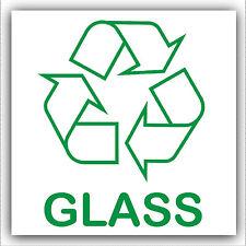 Etiqueta engomada de vidrio 1x: recicle Logotipo Signo, reciclado, residuos, botellas, Taza, leche, bandeja de ventana,