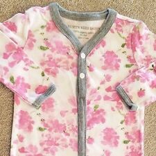 SWEET! BABY BURT'S BEES ORGANIC 0-3 MONTH PINK ROSES OUTFIT