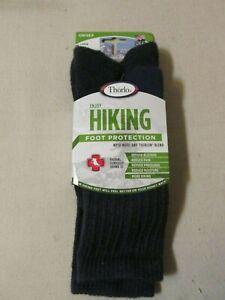 New! Thorlo Crew Blue Wool & Thorlon Blend Hiking Socks Large Unisex