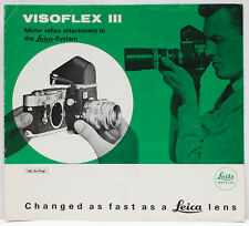 Leitz Wetzlar Visoflex III Attachment Sales Brochure Booklet 1970s