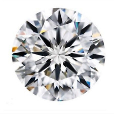 3.51cts Natural White Diamond H Color 10mm Round Shape VVS2 Clarity