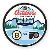 NHL LAKE TAHOE PIN BOSTON BRUINS VS. PHILADELPHIA FLYERS DUELING OUTDOOR GAME