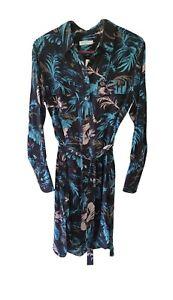 Equipment 100% Silk Floral Pattern Belted Shirt Dress XS