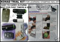 BUY 2 GET 1 FREE Konad Stamping Nail Art DESIGN TRIAL KIT BEGINNERS KIDS