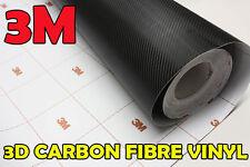 Autocollant Vinyle Fibre Carbone Noir 3M DI-NOC 3x0.75m Sans Air