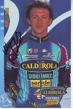 CYCLISME carte cycliste RADAELLI MAURO équipe VINI CALDIROLA 2000 signée