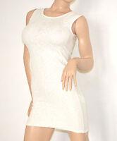 Mini abito donna BIANCO vestito tubino miniabito corto sexy clubwear dress 79