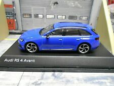 Audi a4 rs4 RS 4 Avant Quattro bi-turbo azul Blue 2017 sp I-scale Kyosho 1:43