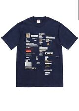 Supreme CutOuts Tee T-Shirt Men's Size-XLarge Navy Printed Graphic on front
