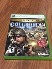 Call of Duty 3 -- Gold Edition (Microsoft Xbox 360, 2007) Missing Manual!
