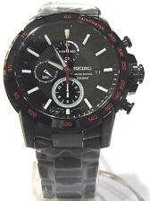 Seiko Criteria Limited Edition Black Dial Stainless Steel Men's Watch SNDC79P1