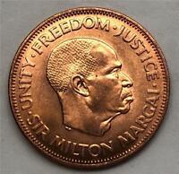 "1964 Sierra Leone Large Cent-Gem Mint State Red-""Below Whole Sale"" KM#17 SL0001"