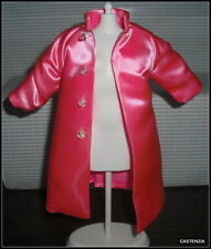 TOP BREAKFAST AT TIFFANY'S BARBIE DOLL AUDREY HEPBURN PINK SATIN COAT JACKET