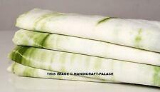 5 Yards Green Shibori Cotton Indian Dress Making Fabric Quilting Sewing Fabric