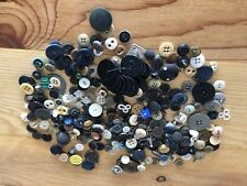 Vintage Button Lot Collection From Old Sewing Machine Drawer + Clarks Wood Spool
