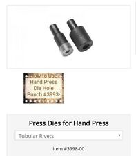 Tandy Leather Hand Tool Die Set 3998-00 Tubular Rivet Setter Kit New