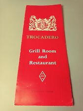 L👀K Trocadero Grill Room & Restaurant Menu Piccadilly Circus Engraved