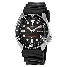 Relojes de pulsera de plata de goma Seiko