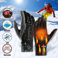 Men Women Reflective Sport Gloves Thermal Sports Running Cycling Touch Screen  S