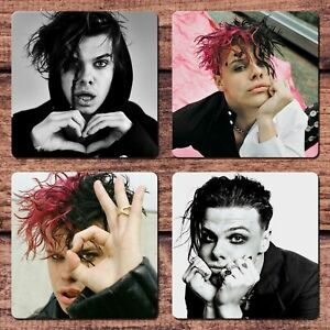 Yungblud Coasters Set of 4 For Coffee Tea Beer Mug Cup Party Sexy Guy