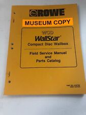 Rowe Wcd Wallstar Compact Disc Wall Box Service And Parts Catalog First Edition