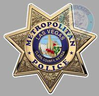 STICKER POLICE LAS VEGAS SHERIF ETOILE METROPOLITAN NAVADA AUTOCOLLANT USA PE143