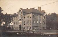 D38/ Cerro Gordo Illinois Il Students Photo RPPC Postcard 1908 Public School