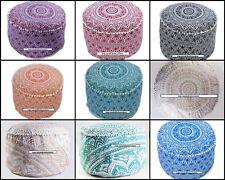 Pouffe Mandala Design Beautiful Cotton Fabric Handmade Ottoman Cover Wonderful