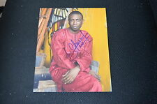 YOUSSOU N'DOUR  signed Autogramm 20x25 cm In Person 7 SECONDS