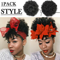 Real Thick Drawstring Afro Bun Puff Kinky Curly Pony Tail Hair Extensions 65g JL