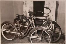 VINTAGE 1949 SCHWINN BICYCLES HIS & HERS BADGE TANK VERNACULAR PHOTOGRAPHY PHOTO
