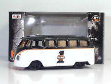 "Maisto Harley-davidson Personalizzato Volkswagen Van T1 ""samba"" H-d Design 1 64"