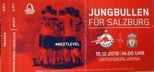 TICKET UEFA Youth League 2019/20 FC Salzburg - Liverpool FC