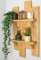 Handmade Wooden Floating Mounted Shelves, Rustic Display Shelf, Reclaimed Wood,