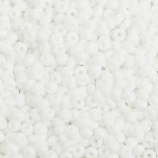 8/0 Opaque White Czech Seed Beads 40 grams