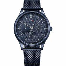 New Tommy Hilfiger Men's Damon Stainless Steel Blue Watch 1791421