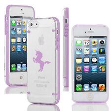 For iPhone SE 5 5s 5c 6 6s Plus Transparent Clear TPU Hard Case Cover Unicorn