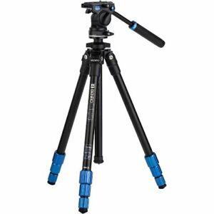 A - Benro Slim Aluminium Video Tripod With Fluid Video Head - TSL08AS2CSH