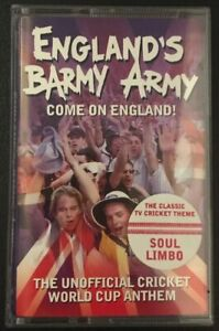 ENGLAND'S BARMY ARMY COME ON ENGLAND! Ultra RARE Cassette Single 1999 TESTED NM