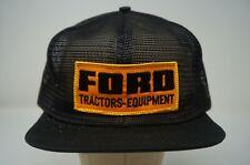 Rare VTG K-BRAND Products Ford Tractors-Equipment Trucker Mesh Snapback Hat 80s