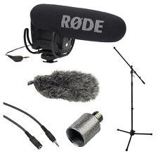 Rode VideoMic Pro with Rycote Lyre Shockmount, Fur Wind, Mic Stand Shield Bundle
